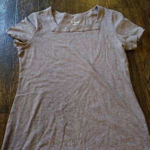 Brown and White Kim Rogers Size Medium Shirt